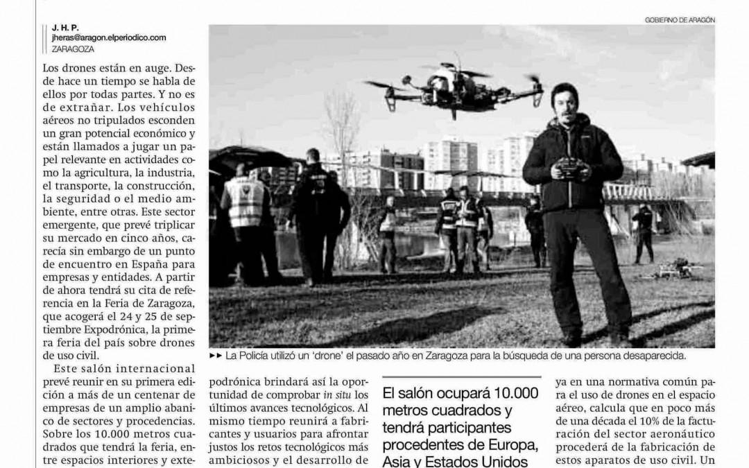 Aragón, Tierra de Drones. Expodronica en EL PERIÓDICO DE ARAGÓN