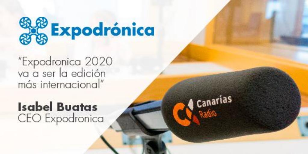 Canarias Radio entrevista a la directora de Expodronica 2020